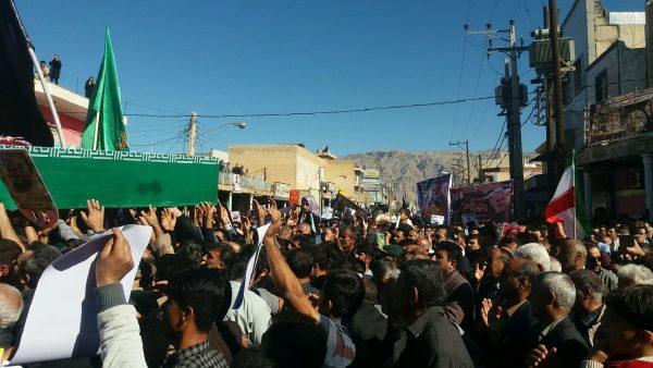 تشییع نمادین پیکر شهید سپهبد سلیمانی در دوگنبدان
